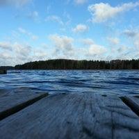 Photo taken at Vaidavas ezers by Liene on 11/17/2013