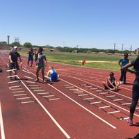 Photo taken at Hillcrest High School Track by Adam H. on 5/4/2014