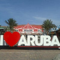 """Photo taken at """"I Love Aruba"""" Sign by Rômulo Z. on 6/11/2013"""