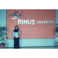 Photo taken at Lounge BINUS University by Walam I. on 8/12/2015