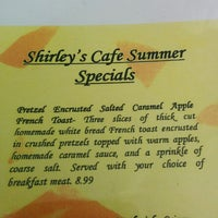 Photo taken at Shirley's Cafe by katy b. on 8/8/2014