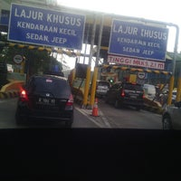 Photo taken at Pasteur Toll Gate by Siska M. on 3/28/2013
