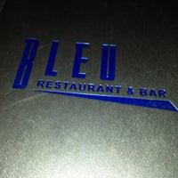 Photo taken at Bleu Restaurant & Bar by Mikaela B. on 1/3/2013
