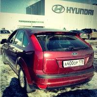 Photo taken at Парковка Hyundai by Олег Л. on 3/4/2013