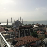 Photo taken at Mina Boutique Hotel Istanbul by V. Ozgur T. on 5/23/2013