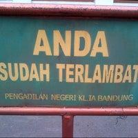Photo taken at Pengadilan Negeri Bandung by Lucky H. on 7/10/2013