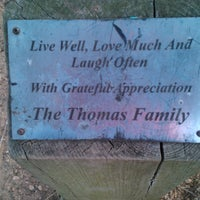 Photo taken at the Thomas family bench by Robert G. on 6/22/2013