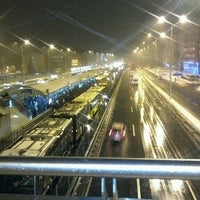 Photo taken at Avcılar Metrobüs Durağı by Onur K. on 3/15/2013