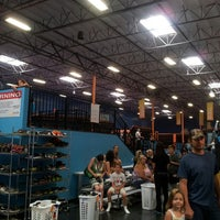 Photo taken at Sky Zone Indoor Trampoline Park by Tony on 6/15/2013