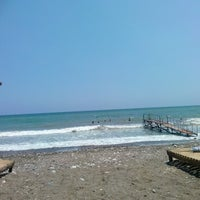 Photo taken at Tece Plajı by YASEMİN . on 7/6/2014