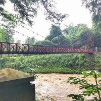Photo taken at Jembatan Merah Kebun Raya Bogor by amasamas on 2/12/2017