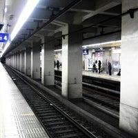 Photo taken at Keihan Temmabashi Station (KH03) by とく と. on 1/27/2013