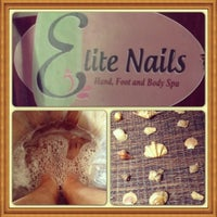 Photo taken at Elite Nails - Hand, Foot and Body Spa by Bem G. on 5/1/2013
