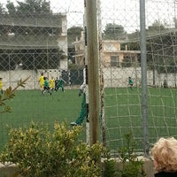 Photo taken at Γήπεδο Ποδοσφαίρου Μελισσίων by Eleni X. on 4/7/2013