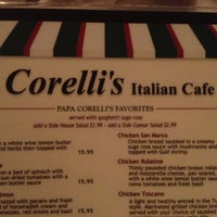 Photo taken at Corelli's Italian Cafe by Hideo H. on 12/29/2012
