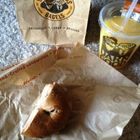Photo taken at Einstein Bros Bagels by Meghan J. on 8/17/2013