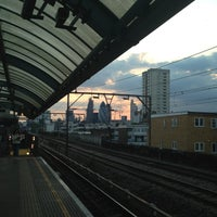 Photo taken at Shadwell DLR Station by Zoey Z. on 5/6/2013