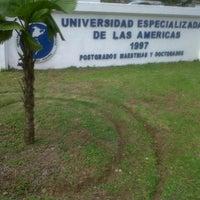 Photo taken at Universidad Especializada de las Américas (UDELAS) by Omar M. on 8/7/2013