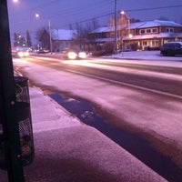 Photo taken at Bus Stop #531 - Pacific and Sawyer W bound by Elaine N. on 1/15/2012