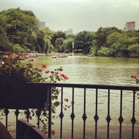 Photo taken at Central Park Boathouse by Michael P. on 7/13/2012
