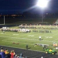 Photo taken at Papillion - La Vista South High School by Mike B. on 10/19/2012