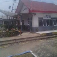 Photo taken at Stasiun Kereta Api Pulu Raja by Luther S. on 3/2/2015