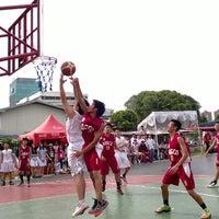Photo taken at Lapangan Basket Pulomas by Christian A. on 11/22/2013