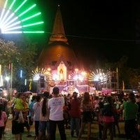 Photo taken at Phra Pathom Chedi by Nos C. on 12/28/2012