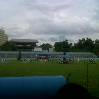 Photo taken at Stadion Klabat by talita kaunang on 7/28/2013