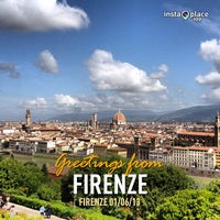 Photo taken at Piazzale Michelangelo by Scienza on 6/1/2013
