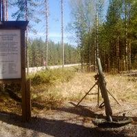 Photo taken at Sotilasmuistomerkit (Nurmeksen varuskunta, jatkosodan krh ja tykistö, sekä JR200 Soomepoisid) by Tero L. on 5/20/2013