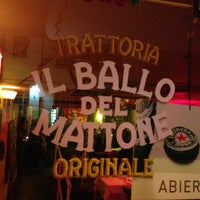 Photo taken at Il Ballo Del Mattone Trattoria Originale by Mariano E. on 4/1/2013