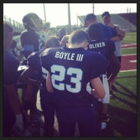 Photo taken at Jenks High School Football Stadium by Rob B. on 9/14/2013