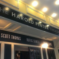 Photo taken at Harold Pinter Theatre by Melike Saba A. on 2/6/2013