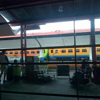 Photo taken at Stasiun Malang by Fajar K. on 1/1/2014