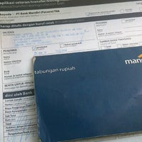Photo taken at Bank Mandiri Klandasan by Rizki Y. on 5/15/2013