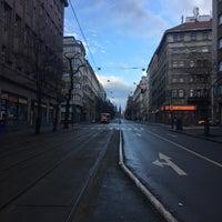Photo taken at Štěpánská (tram) by Kate M. on 2/5/2017