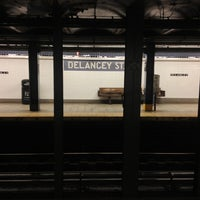Photo taken at MTA Subway - Delancey St/Essex St (F/J/M/Z) by Andrew A. on 7/2/2013