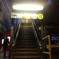 Photo taken at MTA Subway - Astoria/Ditmars Blvd (N/W) by Andrew A. on 12/28/2012