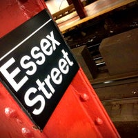 Photo taken at MTA Subway - Delancey St/Essex St (F/J/M/Z) by Andrew A. on 7/26/2013