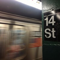 Photo taken at MTA Subway - 14th St (F/L/M) by Andrew A. on 6/24/2013
