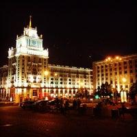 Photo taken at Triumfalnaya Square by Sasha M. on 6/10/2013