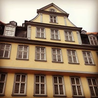 Photo taken at Goethehaus by Sasha M. on 3/9/2013