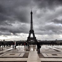 Photo taken at Place du Trocadéro by Olivier Q. on 4/11/2013