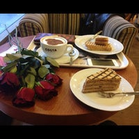 Photo taken at Costa Coffee by Valentýna P. on 2/8/2013