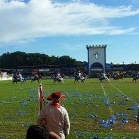 Photo taken at Campo das Cavalhadas by Mateus F. on 5/24/2015