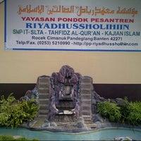 Photo taken at PP Riyadhussholihiin by Herman S. on 11/10/2012