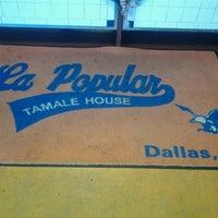 Photo taken at La Popular Tamale House by John U. on 12/29/2012