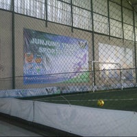 Photo taken at Wing's Futsal by christiana o. on 4/25/2013