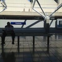 Photo taken at Gautrain Pretoria Station by Kobus V. on 4/9/2013